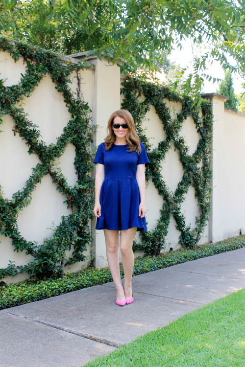 topshop navy textured dress