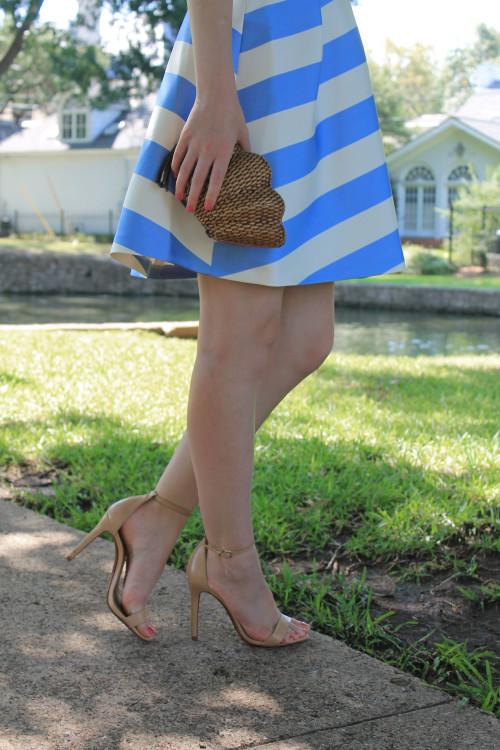 topshop striped cutout dress