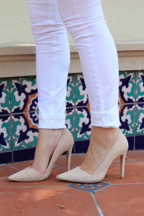 alice olivia dina nude pointed toe heels