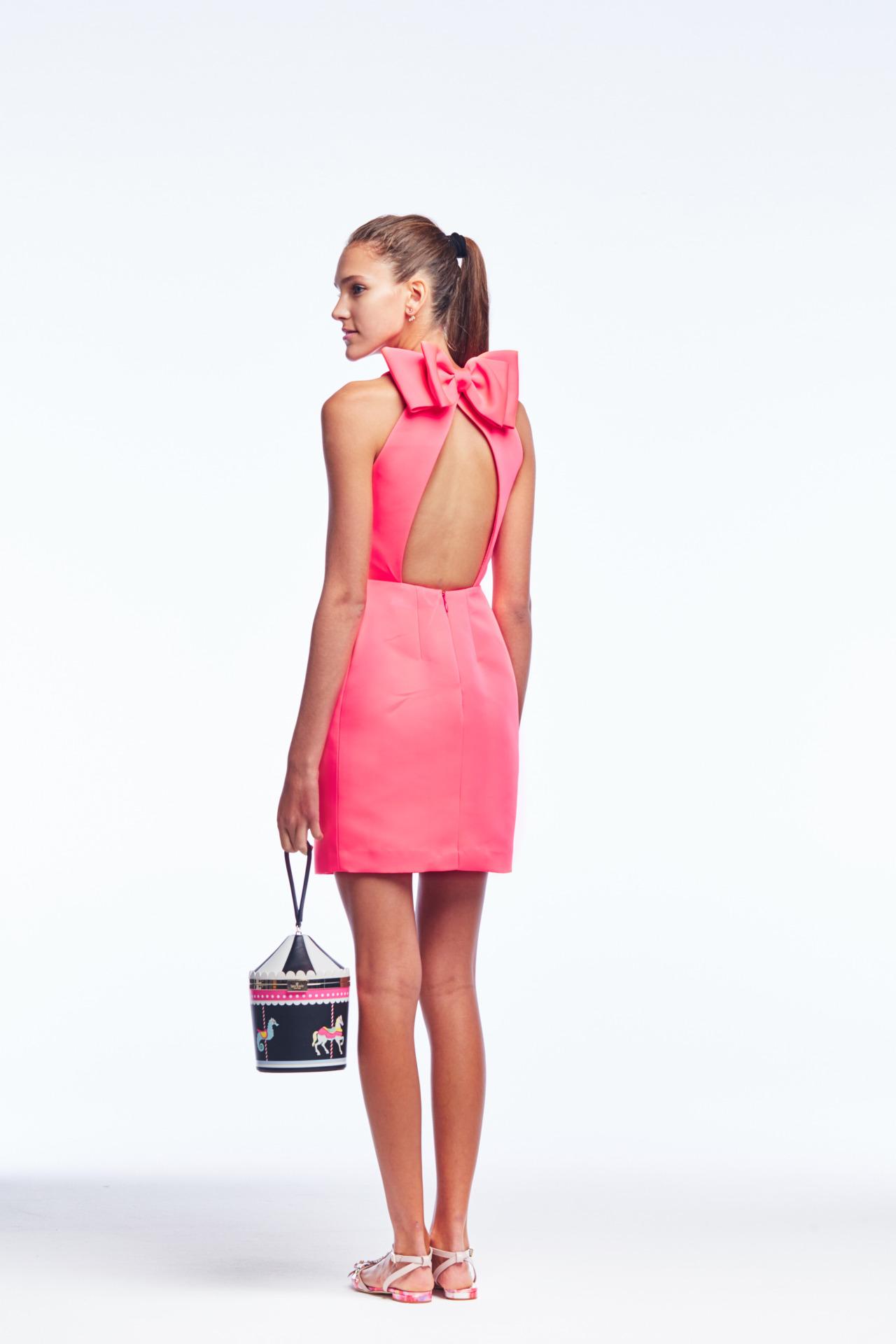 70ccaa736f26 kate spade spring summer 2016 pink bow back dress