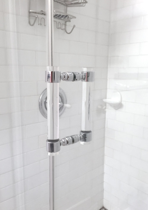 lucite shower pull