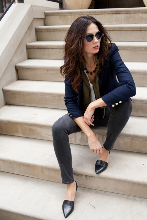 two penny blue navy blazer
