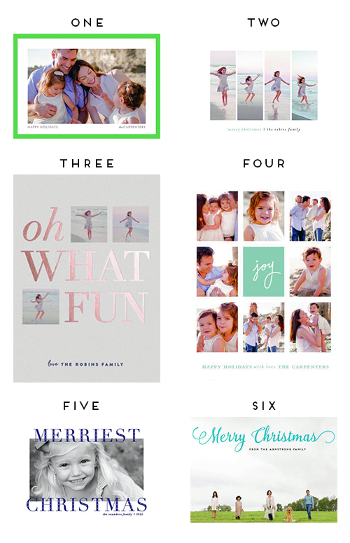 modern christmas cards to get a head start on your holiday to do list