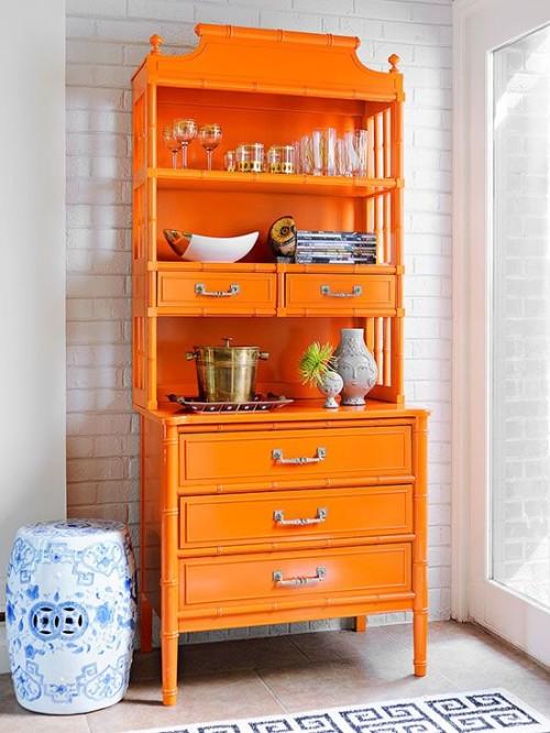 orange bamboo dresser