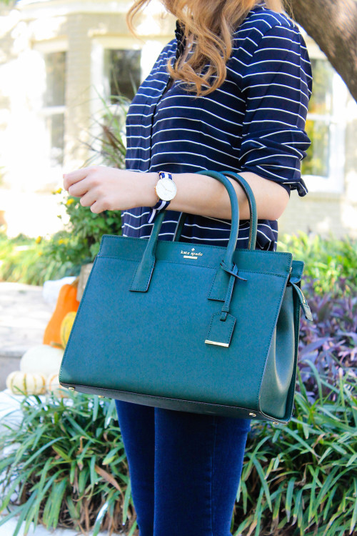 kate spade cameron street candace satchel night forest