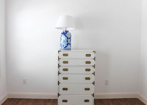 white campaign dresser dana gibson lamp