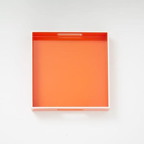 orange lacquer tray