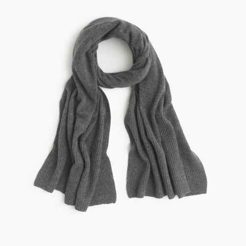 gray cashmere scarf