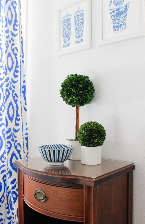 boxwood topiaries ginger jar prints