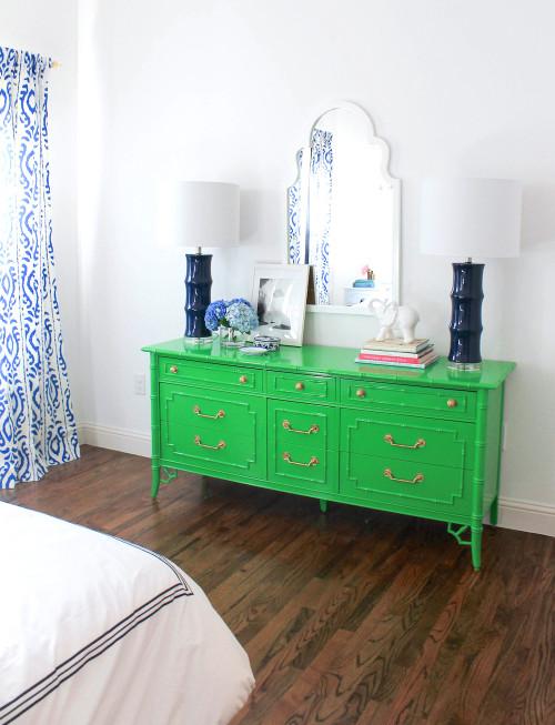 green bamboo dresser