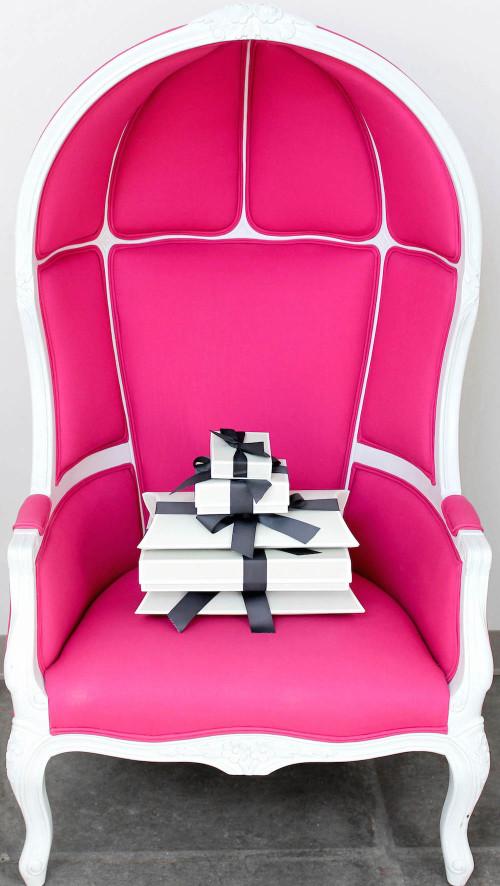 katie kime pink birdcage chair