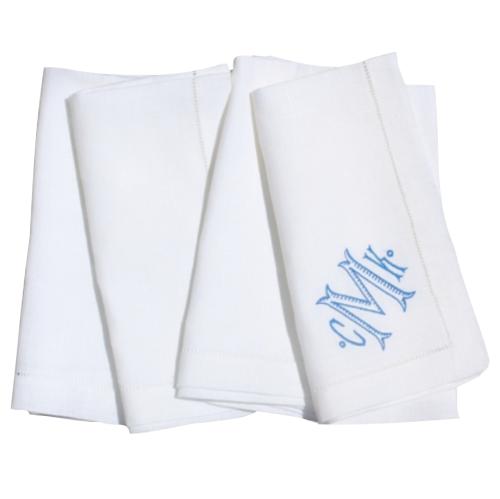 monogrammed dinner napkins