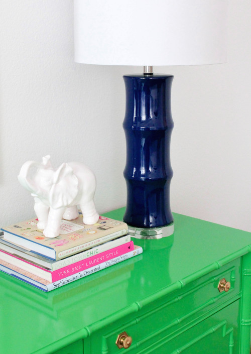 navy bamboo lamps