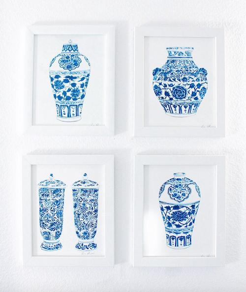 design darling blue and white ginger jar prints