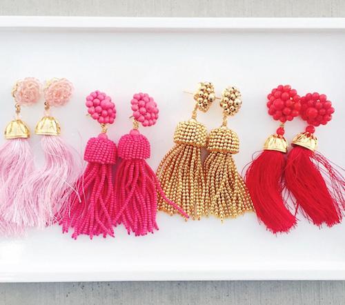 design darling tassel earrings
