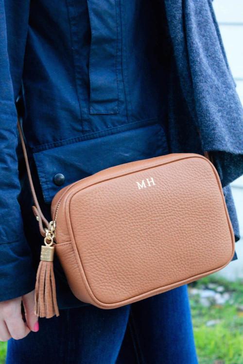 gigi new york monogrammed crossbody bag