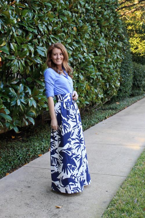 katie kime otomi print maxi skirt