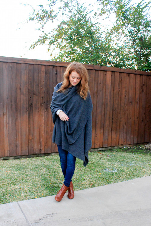 white and warren gray cashmere travel wrap