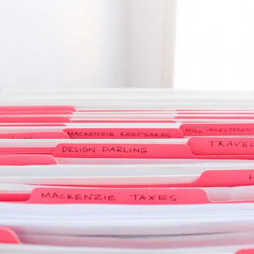 how to organize important documents