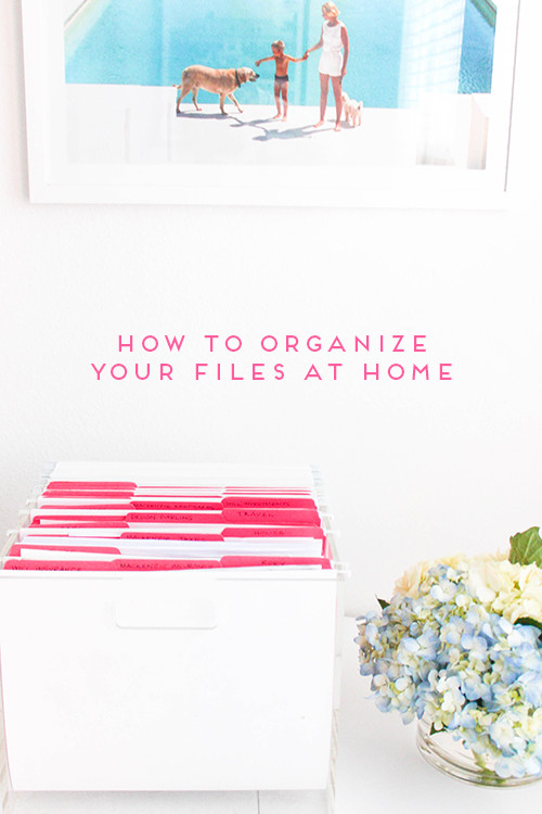 how to organize your files at home