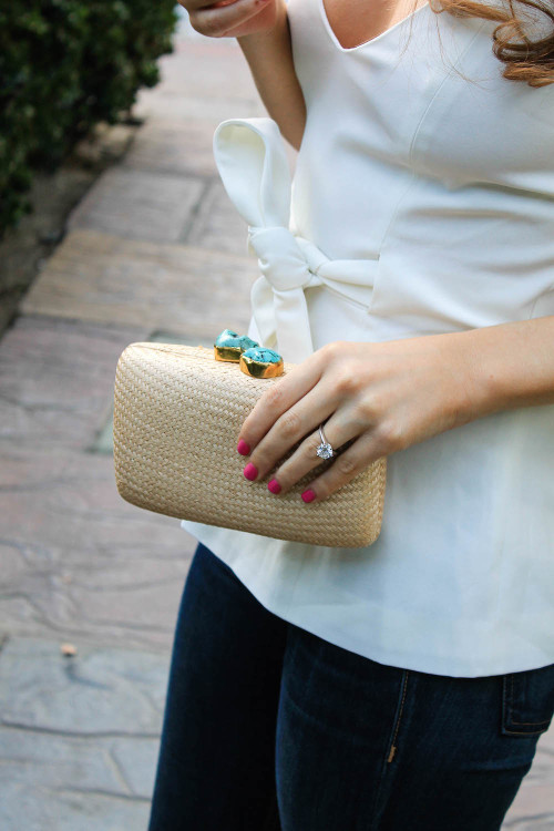 kayu jen clutch turquoise stones