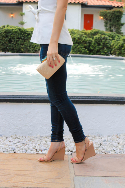 loeffler randall scalloped wedges