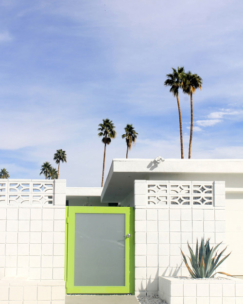 palm springs lime green door