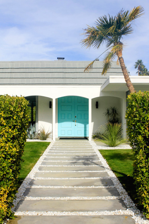 palm springs turquoise door