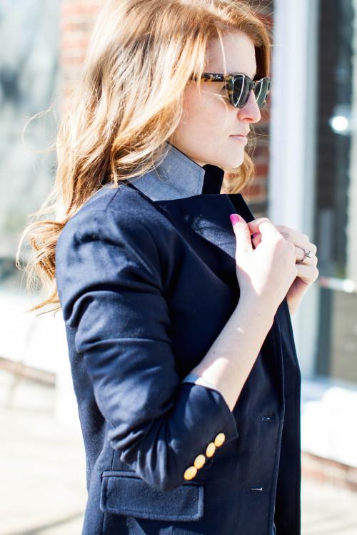 2 penny blue navy blazer