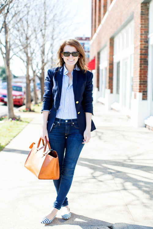 design darling navy blazer