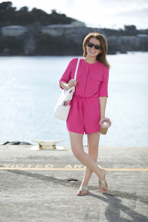 design darling pink romper