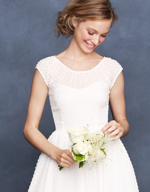 j.crew swiss dot wedding dress