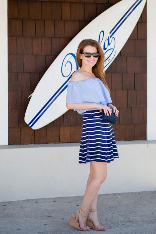 j.mclaughlin striped skirt