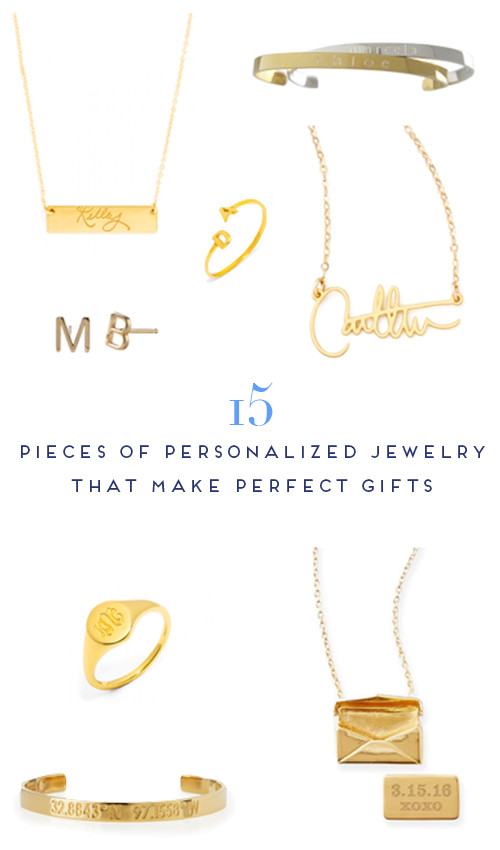 15 pieces of personalized jewelry that make perfect gifts