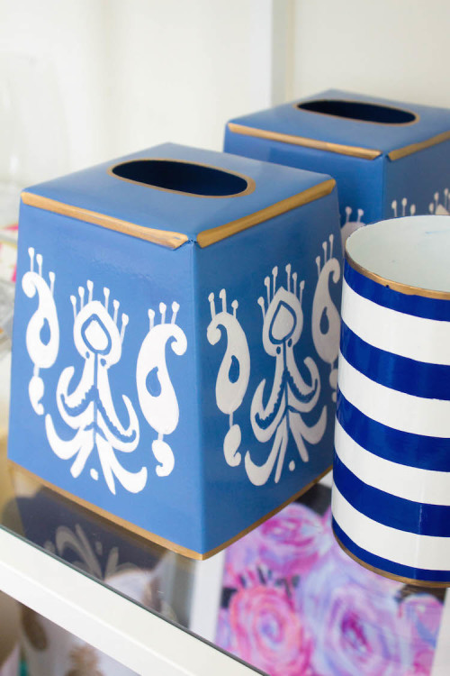 design darling ikat tissue box cover