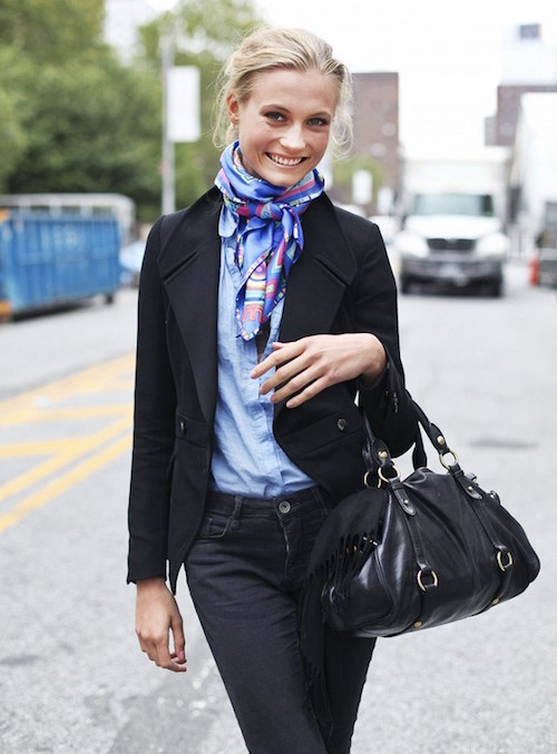 how to style a silk scarf 5