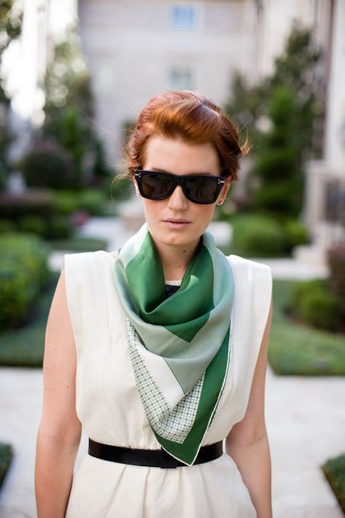 how to style a silk scarf 7