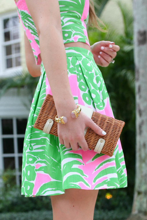 design darling lilly pineapple crop top and skirt