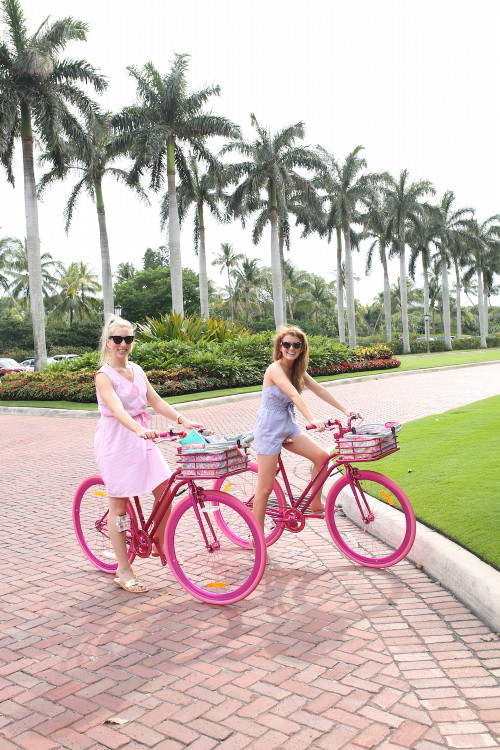 design darling palm beach hot pink lilly bike