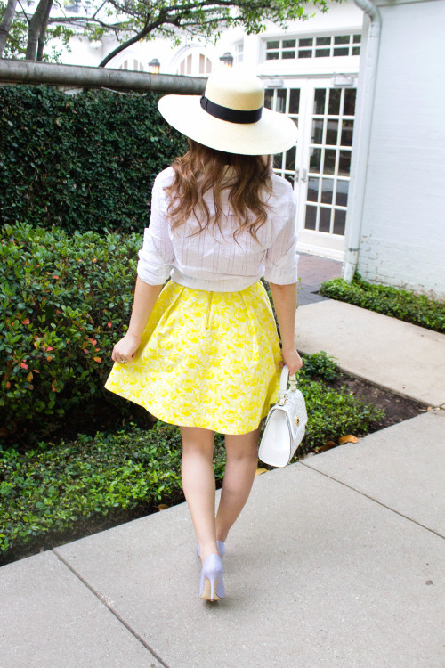 draper james yellow jacquard skirt