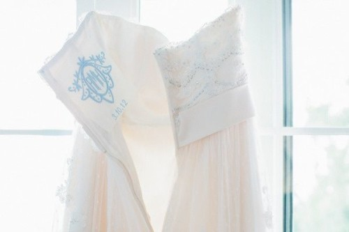embroidered wedding dress something blue