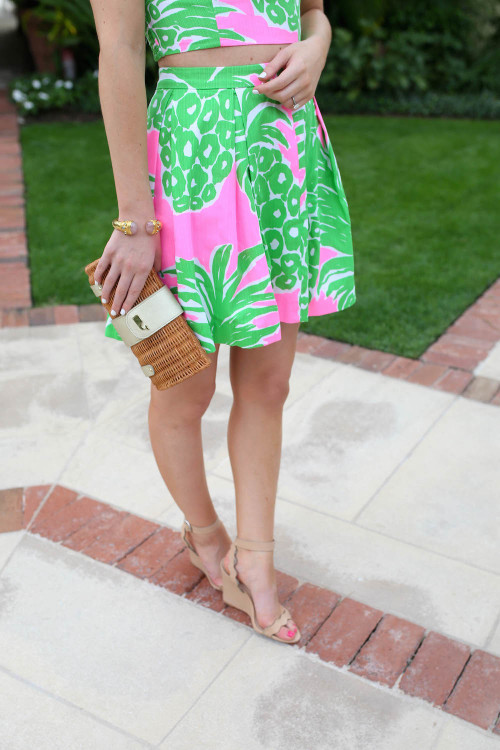 lilly pineapple print skirt