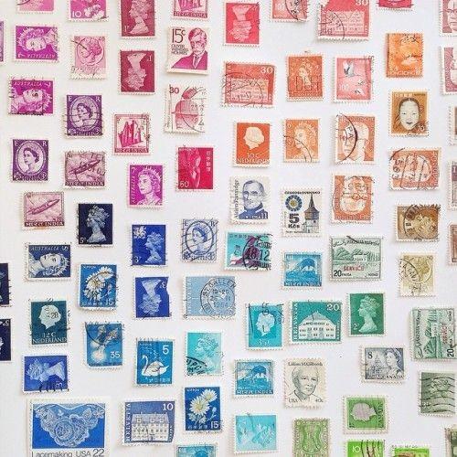 vintage stamps for wedding invitations