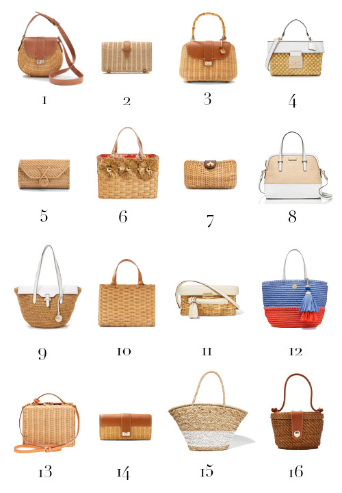 16 timeless straw bags for summer