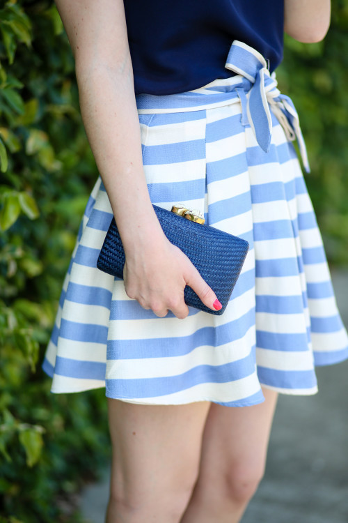 design darling lovers + friends high tide skirt and kayu clutch-2