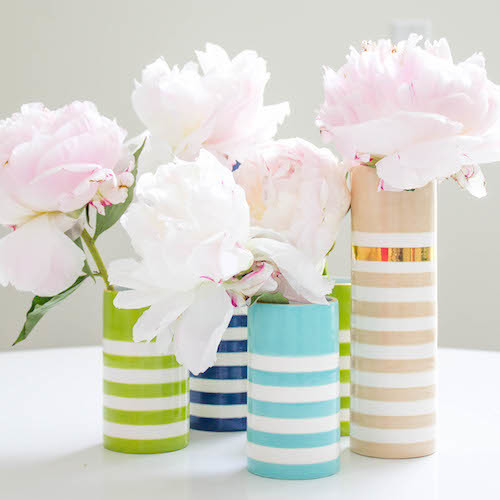 design darling striped vases