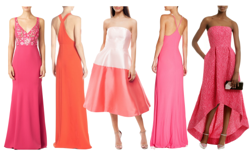 long pink dresses for black tie wedding
