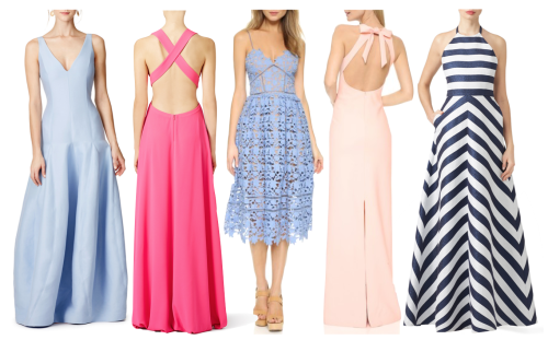 long wedding guest dresses