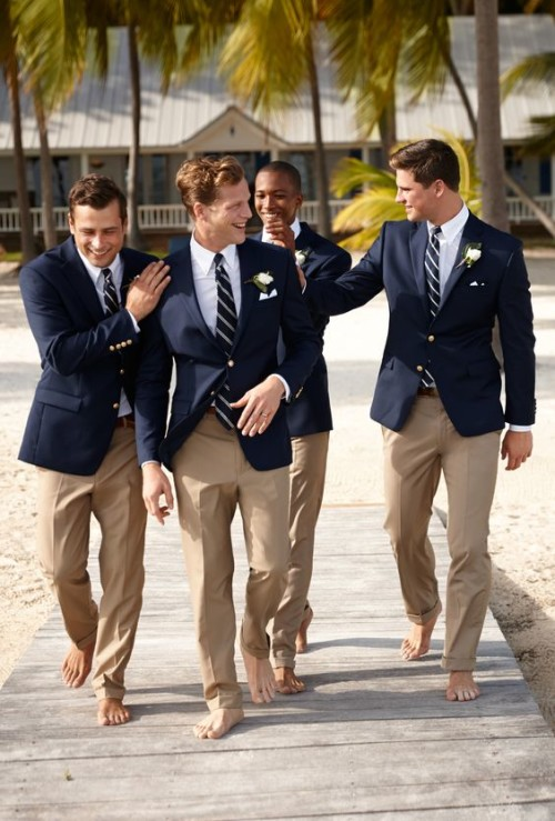 navy blazers for groomsmen