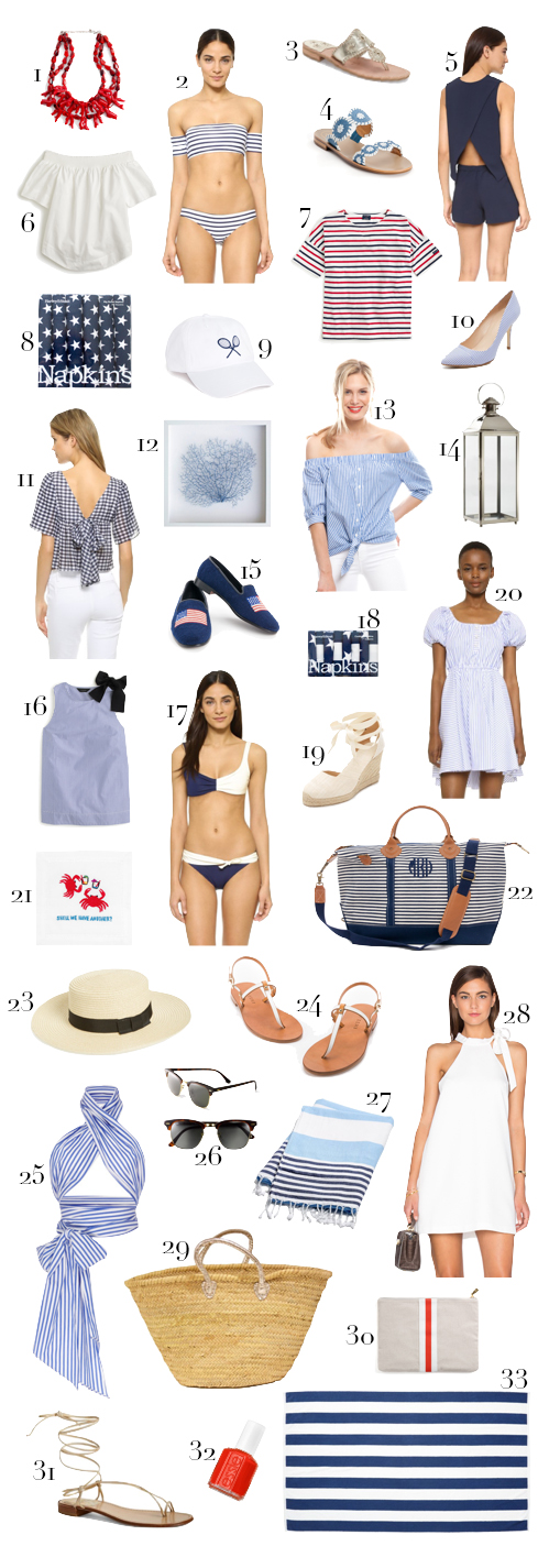 red white and blue preppy outfit picks for memorial day